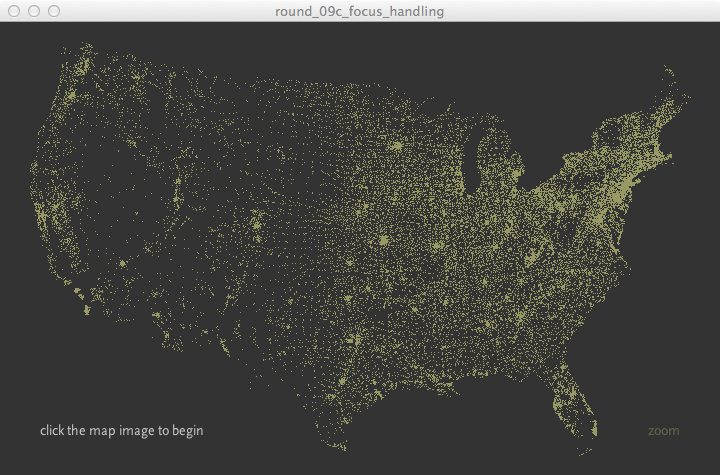 Interactive zipcodes using Processing